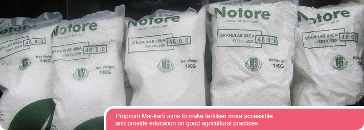 Propcom Mai-karfi aims to make fertiliser more accessible and provide education on good agricultural practices