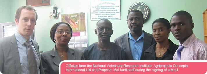 Officials from the National Veterinary Research Institute, Agriprojects Concepts