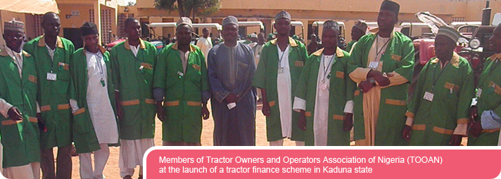 Members of Tractor Owners and Operators Association of Nigeria (TOOAN) at the launch of a tractor finance scheme in Kaduna state